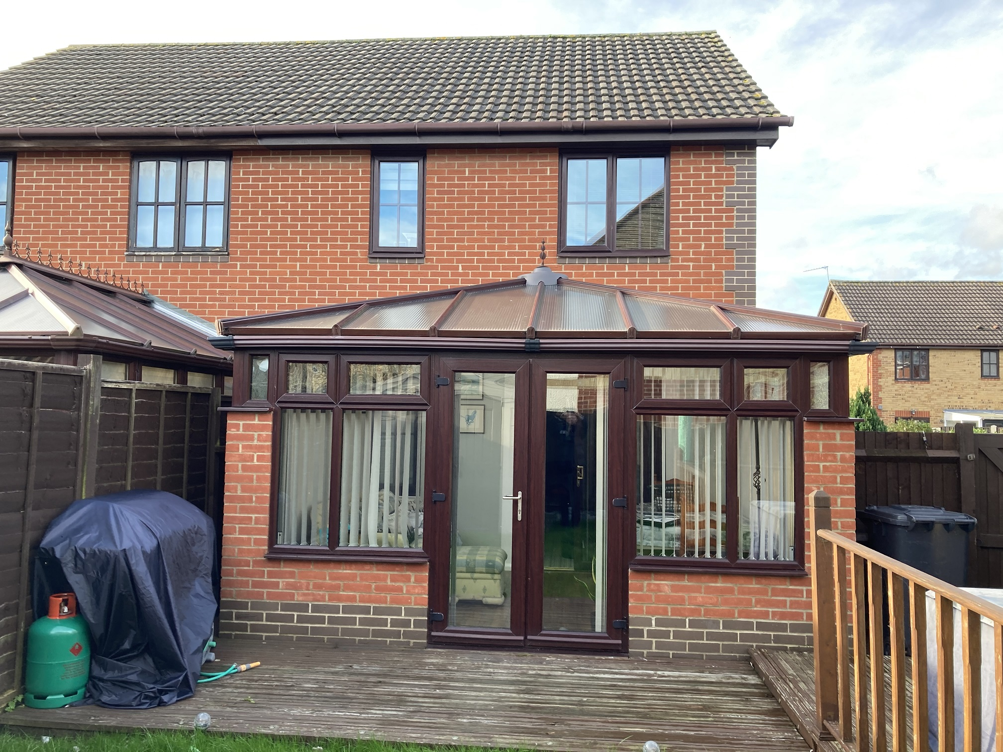 Conservatory before a Guardian Warm Roof Transformation