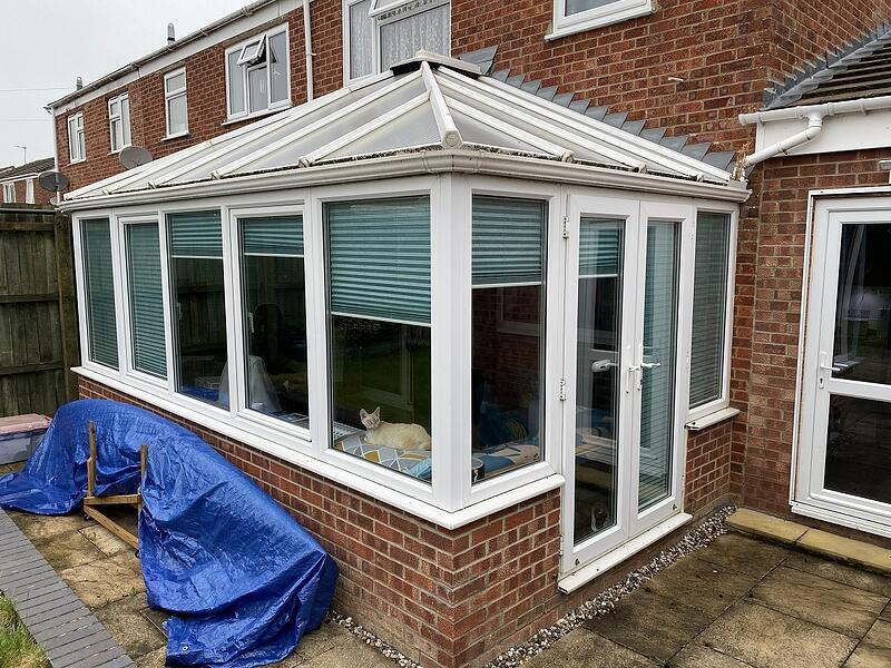 Before a Tiled Conservatory Roof transformation in St Ives, Cambridgeshire