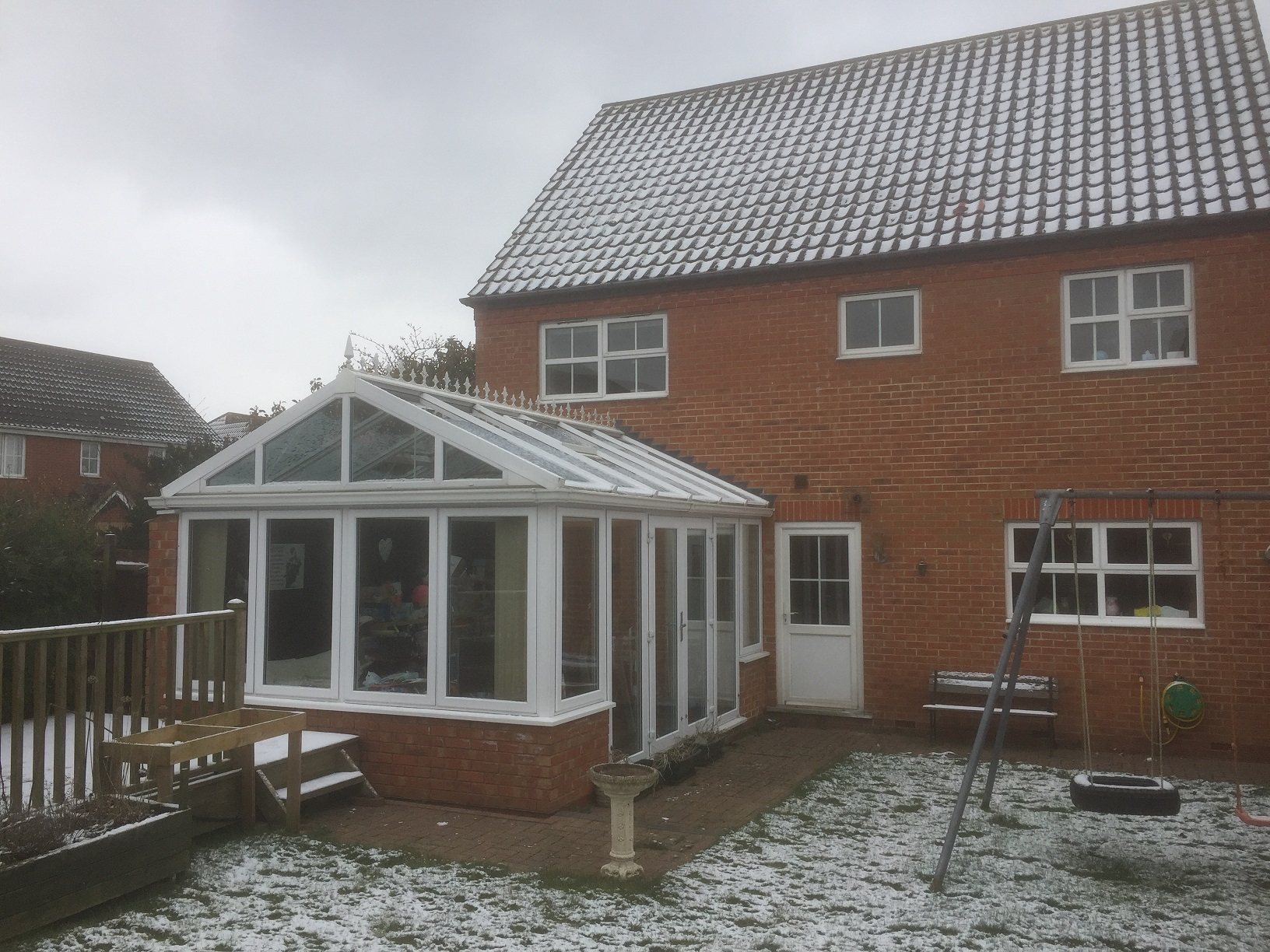 Conservatory before having a conservatory conversion with a Guardian Warm Roof